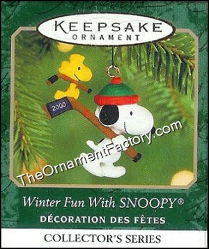 2000 Winter Fun with Snoopy #3, Miniature
