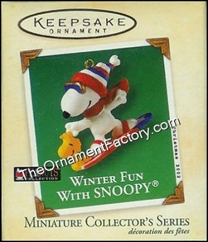 2002 Winter Fun with Snoopy #5, Miniature, Peanuts