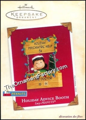 2003 Holiday Advice Booth, Lucy, Peanuts