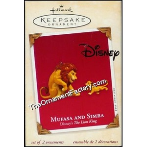 2003 Mufasa and Simba, Disneys Lion King