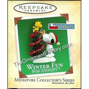 2004 Winter Fun With Snoopy #7, Peanuts, Miniature
