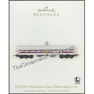 2007 Lionel Freedom Train Observation Car