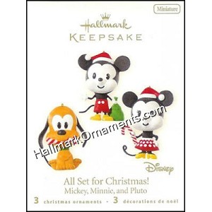 2008 All Set For Christmas!, Mickey, Minnie, Pluto, Miniature