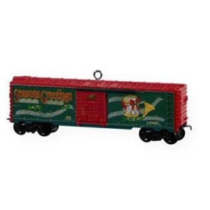 2009 Lionel Holiday Boxcar, Lionel Trains