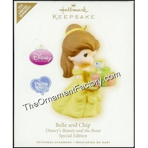2009 Belle and Chip, Disney Beauty and the Beast, Precious Moments, RARE