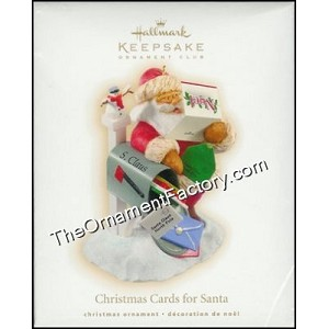 2009 Christmas Cards for Santa, Club Ornament