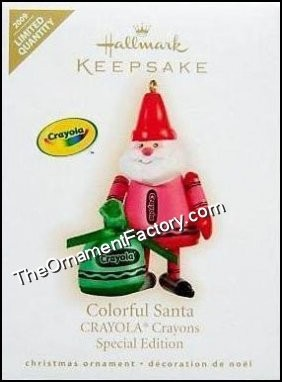2009 Colorful Santa, Crayola, LIMITED QUANTITY