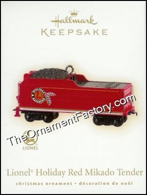 2009 Lionel Holiday Red Mikado Tender, Lionel Trains