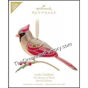 2010 Lady Cardinal, Beauty of Birds, LIMITED QUANTITY