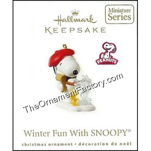 2010 Winter Fun with Snoopy #13, Miniature, PEANUTS