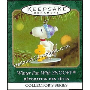2001 Winter Fun with Snoopy #4, Miniature