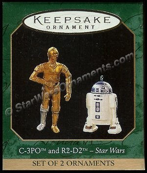 1997 C-3PO and R2-D2, Star Wars, Miniature
