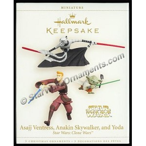 2006 Asajj Ventress Anakin Skywalker and Yoda, Star Wars