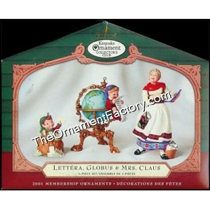 2001 Lettera, Globus, Mrs. Claus - Twas the Night Before Christmas, Set of 3