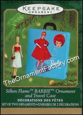 2000 Silken Flame Barbie and Travel Case, Miniature