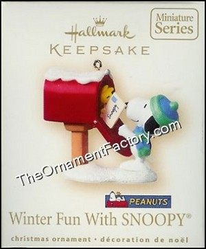 2007 Winter Fun With Snoopy #10, Peanuts, Miniature